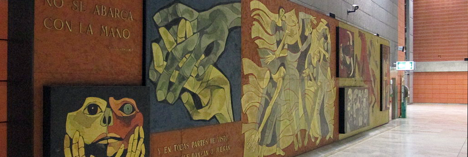 Oswaldo Guayasamín Mural at Barajas Airport in Madrid